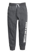 Printed sweatpants - Dark grey marl - Kids | H&M CN 1